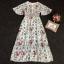 Maxi Dress แขนกว้าง สีพาสเทล thumbnail 4