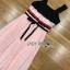 Lady Maddie Striped Ribbon Pleated Dress thumbnail 6