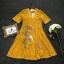 เดรสงานผ้าลูกไม้ทอลายคอ V แต่งขอบด้วยลูกไม้ thumbnail 6