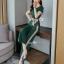 เซ็ทเสื้อ+ผ้าริบบิ้น+กางเกงงานเกาหลีผ้าสีพื้น thumbnail 6