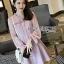 Pink Chiffon Dress มินิเดรสผ้าชีฟองสีขมพู thumbnail 2