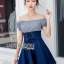 Lady Carrie Country Girl Off-Shoulder Blue thumbnail 5