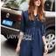 Lady Natalie Minimal Organza and Denim Cotton Shirt Dress thumbnail 2