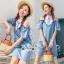 เดรสยีนส์สวยเก๋ลุคสาวเกาหลี ดีเทลเดรสเนื้อผ้าสียีน thumbnail 1