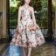 เดรส ผ้าสีครีมลายดอกกุหลาบสีชมพู thumbnail 2