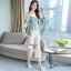 เซ็ทเสื้อ+กางเกงเกาหลีเสื้อผ้าไหมซาติน thumbnail 5