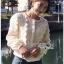 White Lace Blouse เสื้อแขนยาวผ้าลูกไม้สไตล์เบสิก thumbnail 5