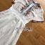 เดรสผ้าชีฟองสีขาวปักลายตกแต่งพลีต thumbnail 7