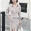 Shirt Dress Lady Ribbon เชิ้ตเดรสลายทาง thumbnail 3