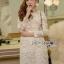 🎀 Lady Ribbon's Made 🎀 Lady Gabriella Elegant Chic Mixed Lace Dress thumbnail 1