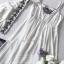 เสื้อคลุมตัวสั้นเป็นทรงปล่อยเนื้อผ้าคอตตอนเนื้อนุ่มแบบโปร่ง ทรงคอวีลึก thumbnail 13