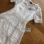 Embroidered Lady Ribbon White Lace Dress thumbnail 6