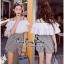 เสื้อกับกางเกงลายสก๊อตสไตล์เกาหลี thumbnail 1