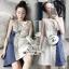 เดรสทรงแขนกุดลุคสาวเกาหลีเนื้อผ้าคอตตอนพิมพ์ลายสก็อต thumbnail 1