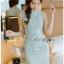 Chic Minty Lady Ribbon Lace Dress thumbnail 1