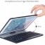 (iPad 2017) ISYNAT เคสคีย์บอร์ดมีไฟ LED 7 สี หมุนได้ 360 องศา thumbnail 17