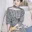 เดรสลุคสาวเกาหลีงานเดรสลายสก็อตโทนสีขาวดำ thumbnail 4