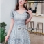 Blue Lace Dress เดรสสั้นผ้าลูกไม้สีฟ้า thumbnail 3