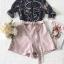 เสื้อเชิ๊ทเนื้อผ้าชีฟองแบบโปร่งกางเกงโทนสีชมพูหวานๆ thumbnail 7