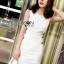 Chic Side-Button Body Lady Ribbon Dress thumbnail 3