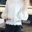 White Lace Blouse Lady Ribbon ขายเสื้อลูกไม้สีขาว thumbnail 3