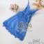 2Sister Made, Blue Mini Sexy Beauty Dress เดรสหรูสไตล์แบรนด์ดัง เนื้อผ้าลูกไม้เกรดดี ดีเทลสายเดี่ยว thumbnail 9