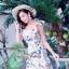 ชุดเดรสดอกเกาหลีผ้าจอร์เจียร์ thumbnail 7