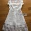 White Flower Lace Lady Ribbon Mini Dress thumbnail 6