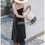 Lady Gabby Two-Tone Vintage Crepe Dress thumbnail 4