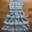 Ruffle Grey Lady Ribbon Lace Dress thumbnail 8