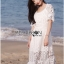 Lady Selena Sweet Feminine Ruffle White Lace Dress thumbnail 1