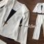 ชุดขาว / ดำ เสื้อแขนกุดคลุมแขน thumbnail 6