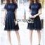 Lace Dress เดรสผ้าลูกไม้สีน้ำเงินเข้มทรงเบสิก thumbnail 1