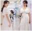 Lady Ashley Pure Royal Lace-Down White Lace Dress thumbnail 1