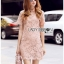 Pink Lace Mini Dress Lady Ribbon มินิเดรส thumbnail 2