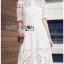 Chic White Lady Ribbon Shirt Dress thumbnail 4