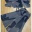 เสื้อกางเกงงานเกาหลีผ้าชีฟองสีกรม thumbnail 9