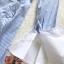 เดรสเนื้อผ้าคอตตอนพิมพ์ลายริ้วโทนสีฟ้า thumbnail 13