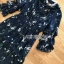 Lady Danielle Flower Printed Navy Blue Maxi Dress thumbnail 5