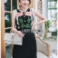 Black Dress Lady Ribbon เดรสผ้าเครปสีดำ thumbnail 4