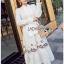 Lady Ribbon White Cotton Maxi Dress thumbnail 4