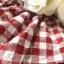 เสื้อเชิ้ตคอกลมตัดวีสีแดงลายสก็อต thumbnail 9