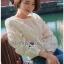 White Lace Blouse เสื้อแขนยาวผ้าลูกไม้สไตล์เบสิก thumbnail 7