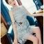 Ruffle Grey Lady Ribbon Lace Dress thumbnail 2