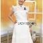White Flower Lace Lady Ribbon Mini Dress thumbnail 2