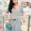 Blue Lace Dress เดรสสั้นผ้าลูกไม้สีฟ้า thumbnail 4