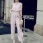 Lady Heidi Minimal Chic Ruffle Baby Pink Jumpsuit thumbnail 2