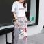 เสื้อขาวกางเกงลายริ้วชุดแฟชั่นลุคสาวเกาหลี thumbnail 5