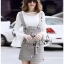 Lady Suit Dress Over White Blouse thumbnail 3