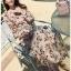 Chiffon Dress with Flower Belt thumbnail 3